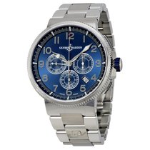 Ulysse Nardin Marine Chronograph Metallic Blue Dial Stainless...