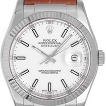 Rolex Datejust 18k White Gold Men's Watch 116139