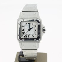 Cartier Santos Steel 24mm (BOX) White roman Dial