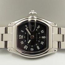 Cartier Roadster Tonneau Steel Black Arabic Dial (37 x 44 mm)