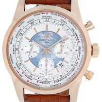 Breitling Transocean Chronograph Unitime World Time Men's...