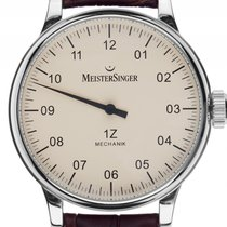 Meistersinger 1Z Scrypto Einzeigeruhr Stahl Handaufzug Armband...