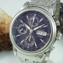 Bulova Chronograph Automatic Day Date Saphir Glas Glasboden...