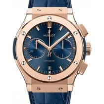 Hublot Classic Fusion Blue 521.OX.7180.LR Index Rose Gold...