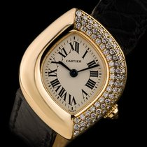 Cartier 18k Yellow Gold Diamond Set Navette Montre Ladies...