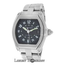 Cartier Mint Mens Unisex Roadster 2510 Stainless Steel Date