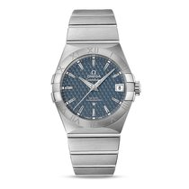 Omega Constellation Steel Blue Dial 123.10.38.21.03.001 Mens...