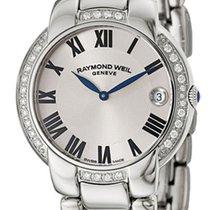 Raymond Weil Jasmine Steel & Diamond Womens Luxury Watch...