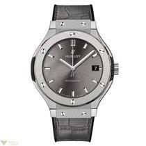 Hublot Classic Fusion Automatic Titanium Leather Men's Watch