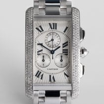 "Cartier Tank Américaine Chrono-Reflex ""White Gold Diamond..."