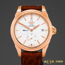 Omega De Ville Co Axial 18K Rose Gold Power Reserve 39mm Box...