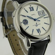 Ulysse Nardin 223-88 - on Black Leather Strap with Silver Dial