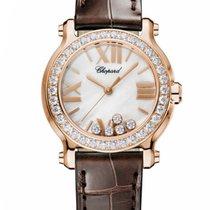 Chopard Happy Sport Mini 18K Rose Gold & Diamonds Ladies...