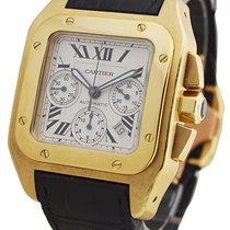 Cartier W20096Y1 Santos 100 Chronograph in Yellow Gold - on...