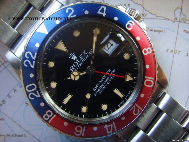 Rolex 1984 STUNNING GLOSSY ROLEX GMT 16750 UNIQUE PATINA