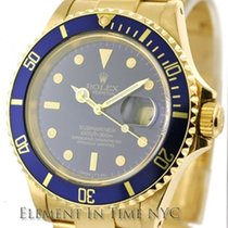 Rolex Submariner 18k Yellow Gold Blue Dial  Ref. 16618