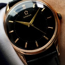 Omega Wonderful pink gold plated Omega with black dial 36mm