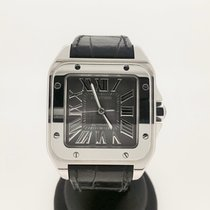 Cartier Santos 100 XL-ST  (/w RARE Silver Dial - Fullset -...
