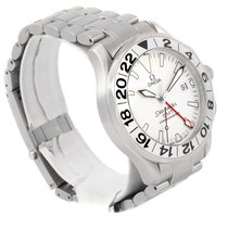 Omega Seamaster Gmt White Dial Steel Mens Watch 2538.20.00