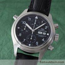 IWC Flieger Doppelchronograph Day Date Automatik Edelstahl 3713