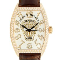 Franck Muller New  Gothique 18 K Rose Gold With Diamonds White...