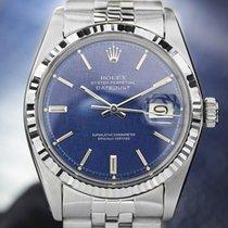 Rolex Oyster Datejust, 18K & SS, Blue Linen Dial
