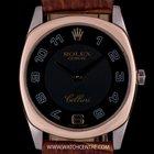 Rolex 18k White Gold & Rose Gold Black Dial Cellini Danaos...