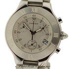 Cartier Must 21 Chronoscaph Quartz White Rubber Box &...