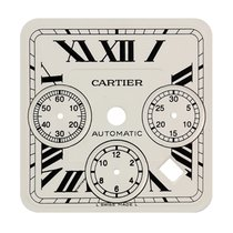 Cartier Santos 100 Chrono XL White/Black Roman Numerals Custom...