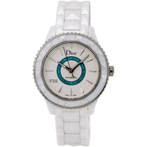Dior VIII White Ceramic and Stainless Steel Ladies Watch...