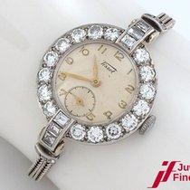 Tissot Klassische Damenuhr in Platin, Armband in 375 Gold Diamant