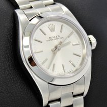 Rolex Oyster Perpetual 76080 Silver Dial 25mm Ladies Watch...