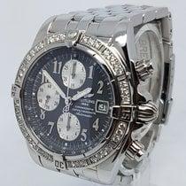 Breitling Factory Diamond Bezel Chronomat Evolution 44mm Mens...