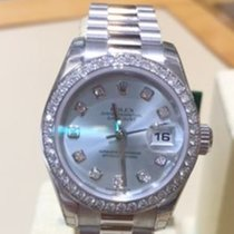 Rolex Platinum President with Ice Blue Diamond Dial