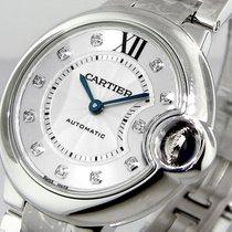 Cartier Ballon Bleu We902074 33 Mm Midsize Diamonds Automatic...