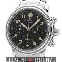 Blancpain Leman  Flyback Chronograph Stainless Steel Black...