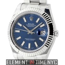 Rolex Datejust II Steel & White Gold 41mm Blue Index Dial...