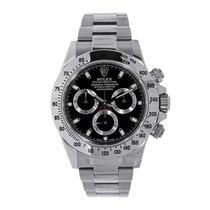 Rolex DAYTONA Stainless Steel Watch Black Dial