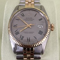 Rolex Oyster Datejust Gold Steel Grey Roman Dial 36 mm (1978)
