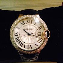 Cartier Ballon Bleu 3004 18k White Gold Diamond Automatic Sweep