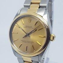 Rolex 1005 18K Gold & Steel Mens Watch 35mm 1984 Full Set