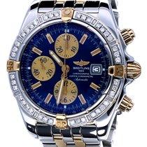 Breitling Chronomat Evolution Pilot Gold Steel Blue Dial 44 mm...