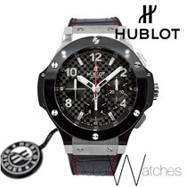 Hublot Big Bang Leather Black Ceramic Stainless Steel Limited...