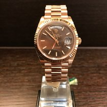Rolex Day Date Rosegold 40mm Chocolate Index Dial LC100 228235