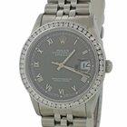 Rolex DateJust Steel 2.00ctw Diamond Bezel 16200 36mm Jubilee...