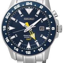 Seiko SUN017P1 Sportura Kinetic GMT Herren m. Stahlband 100M
