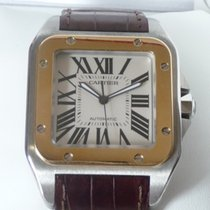 Cartier Santos 100 XL steel and gold full set
