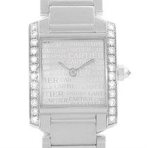 Cartier Tank Francaise Small 18k White Gold Diamond Watch...