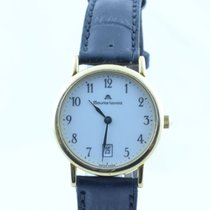 Maurice Lacroix Damen Uhr 25mm Stahl Vergoldet Quartz Rar Calypso