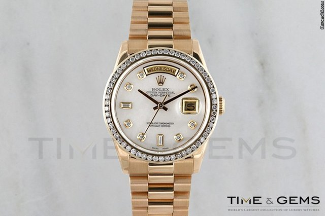 Rolex Mother Of Pearl Diamond Dial Channel Set  Bezel Day Date President